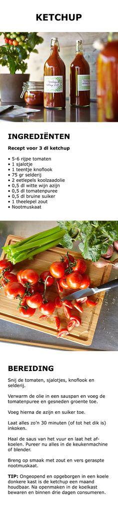 Inspiratie voor de keuken - Zelf ketchup maken   STUDIO by IKEA IKEAnl IKEANederland tomaten ketchup tomatenketchup duurzaam saus knoflook selderij puree DIY