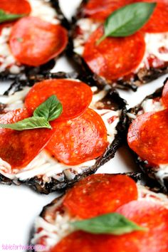 Mushroom Pizza Caps
