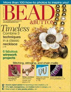 091 Bead & Button Magazine, 2009 June, #91 (Used) at Sova-Enterprises.com