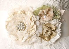 Petite Flower Bouquet Dress Pin in Natural by rosyposydesigns, $126.00