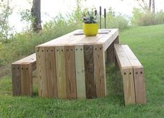 Wood Boards Picnic Table | found online | Heath Ashli | Flickr