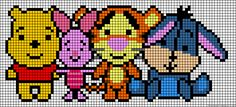 Winnie the Pooh and friends perler bead pattern