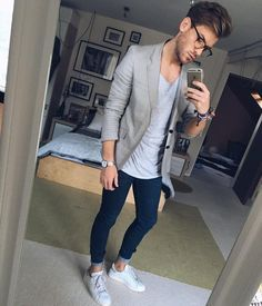 """""""Good looking guys copy, Insanely great looking guys steal. We follow a lot of amazing street style start on Instagram. We even curate some of the coolest street styles on our Instagram page dedicated to capsule wardrobe looks."""