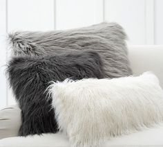 Find throw and accent pillows from Pottery Barn to easily update your space. Shop our pillow collection to find decorative pillows in classic styles, prints and colors. Grey Pillows, Cute Pillows, Fluffy Pillows, Accent Pillows, Faux Fur Pillows, Pillows On Bed, Decor Pillows, Fur Throw Pillows, Throw Blankets