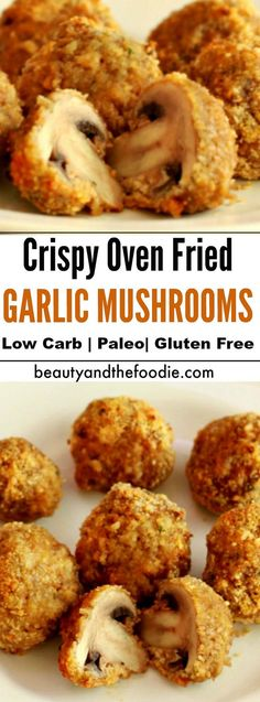 CRISPY OVEN FRIED GARLIC MUSHROOMS - Recipes Diaries