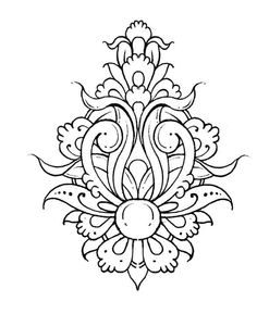Pattern Coloring Pages, Colouring Pages, Coloring Books, Islamic Art Pattern, Pattern Art, Islamic Motifs, Persian Motifs, Tatoo Henna, Embroidery Patterns