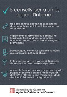 Consells per a un ús segur d'Internet #seguretat #privadesa #ProtecciódeDades #ciberseguretat #Internet