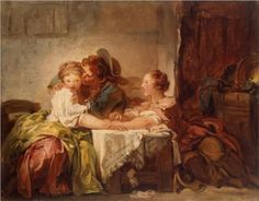 The Prize of a Kiss - Jean-Honore Fragonard, 1760