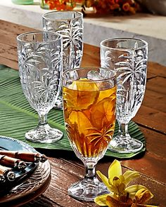 Tommy Bahama - Palm Tree Glasses - Set of Four