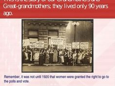 Women and the Vote Power Point A 14 page Power Point that is a powerful look at  the history of the brave women and what they suffered to earn the right to vote.  It illustrates the lengths Suffragettes were willing to go to gain the vote while reminding all people to  get out and vote!