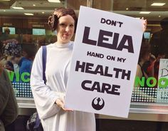 Funniest Women's March Signs From Around the World: Don't Leia Hand on My Health Care