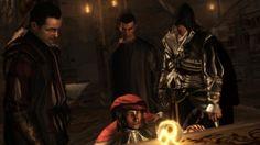 the Assassin's show Leonardo the Apple Assassin's Creed Brotherhood, Infamous Second Son, Assassins Creed, Apple, Games, Artwork, Persona, Apple Fruit, Work Of Art