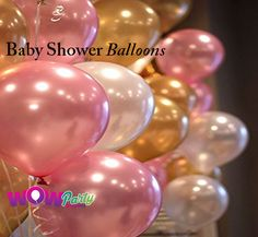 Find huge collection of baby shower balloons at low prices Baby shower balloons in a range of shapes and sizes including foil, latex balloons for adding instant to your baby shower decoration.