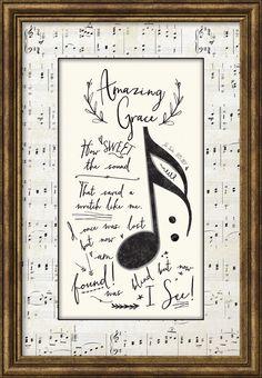 Amazing Grace Framed Textual Art