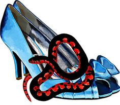 blue high heel shoe clip art png clipart by DigitalGraphicsShop