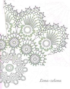 Discussion on LiveInternet - Russian Service Online Diaries Crochet Diagram, Crochet Chart, Crochet Motif, Crochet Designs, Irish Crochet, Crochet Books, Tapestry Crochet, Thread Crochet, Lace Doilies