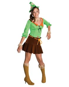 Wizard of Oz Scarecrow Tween Costume Description: A smart start in your quest for a brain. This charming scarecrow knows she looks smart and sweet wherever she goes. The Wizard Of Oz Costumes, Tween Costumes, Group Costumes, Costumes For Women, Movie Costumes, Crazy Costumes, Halloween Costumes Scarecrow, Halloween Costumes For Teens, Halloween Ideas