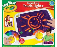 I bought one of these for a student with CVI and autism traits. It was a BIG hit. Lots of visual attention to fine motor task. Music kept her attending. Lighted background is awesome! My First Crayola Touch Lights Product | crayola.com