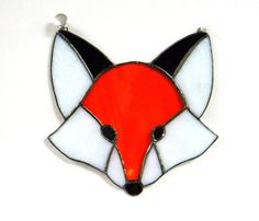 Woodland Fox Stained Glass Suncatcher Home by shopworksofglass, $42.00