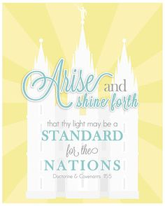 Mutual Theme You could put this on a binder for church! Young Women Values, Arise And Shine, Visiting Teaching, Lds Church, Lds Quotes, Girls Camp, Relief Society, Faith In God, Free