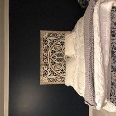 Large King Size Bed Headboard Bohemian Lotus Mandala Wooden Hand Craved Craving Teak Wood Art Panel Panels White Wall Home Decor Thai Wooden Wall Art Panels, Large Wood Wall Art, Panel Wall Art, Wooden Walls, Lotus Mandala, Mandala Flower, Lotus Flower, King Size Bed Headboard, Wood Headboard
