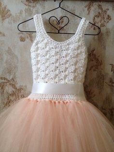 Blush flower girl tutu dress tutu dress flower girl dress by Qt2t