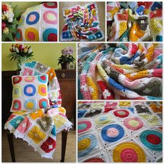 Crochet blanket and cushion