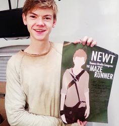 Thomas Brodie-Sangster on set of The Scorch Trials gah. I love him