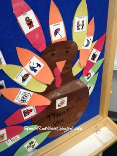Speech Room News: Thanks for Thanksgiving { speech & language preschool plans} - pinned by – Please Visit for all our pediatric therapy pins Speech Therapy Activities, Speech Language Therapy, Language Activities, Speech And Language, Preschool Plans, Preschool Art, Preschool Activities, Classroom Crafts, Autism Classroom