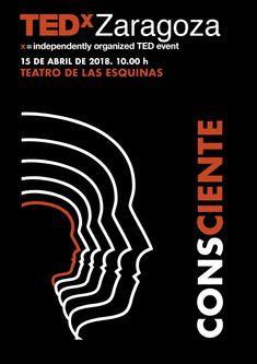 ¡Falta poco para TEDxZaragoza 2018! Nuestro tema: Consciente. ¡Nos vemos el 15 de abril, muchas gracias a tod@s!  TEDxZaragoza 2018 is almost here! Our  theme: Aware. See you all on the 15th of April. Thank you!
