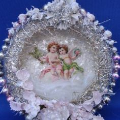 antique and vintage tinsel ornaments