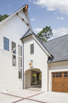 Pike Properties designed this beautiful modern English country home nestled on an expansive suburban property in Charlotte, North Carolina. Porte Cochere, Country House Design, Modern English, Property Design, Custom Built Homes, Residential Architecture, House Architecture, Home Builders, Luxury Homes