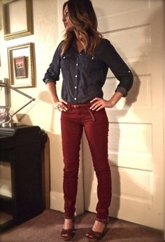 Scarlet pants - I might just have to get these since they don't look too bright. Thanks Michelle!