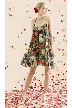 summer-to-fall transitional, ankle booties with floral dress