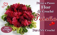 Passo a Passo Flor de Crochê Paixão por JNY Crochê