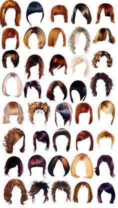 Hair Style Templates  | #hair #style #cute