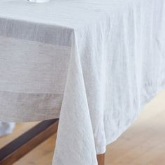 Montecito Tablecloth: I love the rustic/beachy feel, and I bet you could make your own DIY pretty easily.