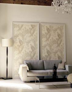 Like the framed wallpaper.