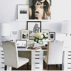 We've always loved her jewellery and now we love her office too! How amazing is the desk of renowned Australian jewellery designer @samanthawills  #mydeskrocks