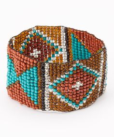 Look at this Dark Woven Beaded Stretch Bracelet