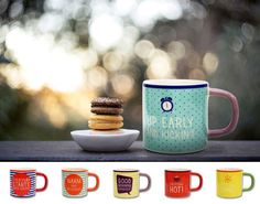 Porcelain Colorful Mugs with motivational inscriptions from Multiple Choice by Top Choice in Silly Design Poland. High-quality porcelain and unique design make it a wonderful gift! Perfect for a morning coffee or afternoon tea... Price 10€