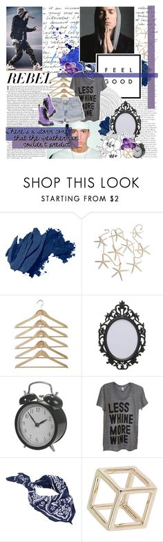 """""""so keep winkin' and blowin' kisses cause your flirtin' with death"""" by heyhayhayxx ❤ liked on Polyvore featuring Bobbi Brown Cosmetics, Levi's, Sally&Circle, Topshop, Dr. Martens, Blue, BloggerStyle, magazine, eminem and Inspiredbymusic"""