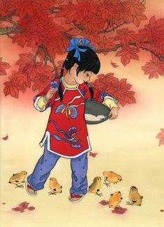 My Little Chickadees; Year of the Rooster - girl