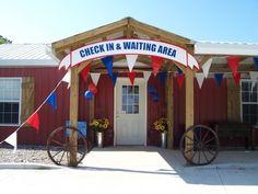 Western Party - wagon wheels!