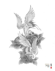 Loving this for a tattoo design but with cherry blossoms on my side