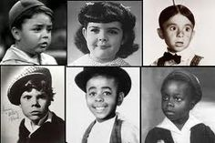 """The Days  of """"The Little Rascals""""- Spanky, Darla, Alalpha, Butch, Stymie, and Buckwheat.  Watched them on TV after school 1954."""