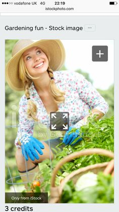 Young lady gardening