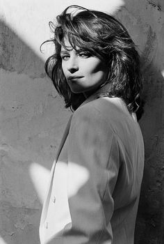Charlotte Rampling photographed by Peter Lindbergh, 1982.