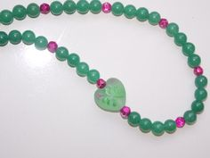 Green Jade Heart Necklace by EriniJewel on Etsy