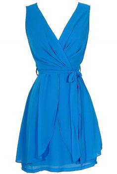 Tiptoe Through The Tulips Chiffon Dress in Blue Possible dresses Chiffon Dress, Dress Skirt, Wrap Dress, Dress Up, Lily Boutique, Fashion Wear, Fashion Looks, Fashion Outfits, Cute Dresses